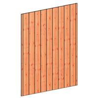 TrendHout Wandmodule B sponningplank verticaal 163 x 220 cm onbehandeld