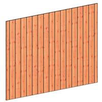 TrendHout Wandmodule C sponningplank verticaal 276 x 220 cm onbehandeld