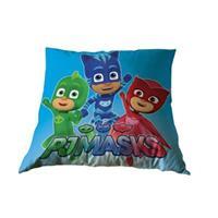 kussen PJ Masks 35 x 35 cm blauw/groen/rood