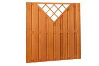 Woodvision Hardhouten plankenscherm 180x180cm 15-planks Verticaal met trellis