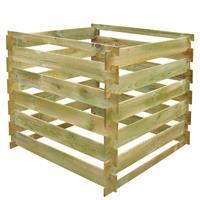 VidaXL Compostbak gelat vierkant 0,54 m FSC hout