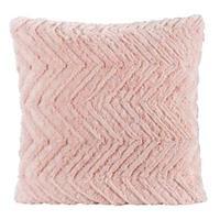 Leen Bakker Sierkussen Monica - roze - 45x45 cm