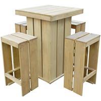 VidaXL 5-delige Tuinset FSC geïmpregneerd grenenhout