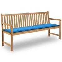 Vidaxl tuinbank kussen blauw 180x50x3 cm