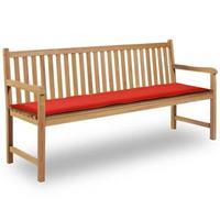 Vidaxl tuinbank kussen rood 180x50x3 cm