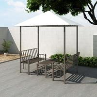 VidaXL Tuinpaviljoen met tafel en bankjes 2,5x1,5x2,4 m