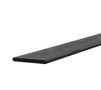 Woodvision Geschaafde plank Grenen 15 x 140 mm Zwart geïmpregneerd 180 cm