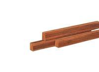 Woodvision Hardhouten regel Azobe Geschaafd 45 x 70 mm 300 cm