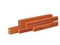 Woodvision Hardhouten regel Azobe Geschaafd 45 x 70 mm 350 cm