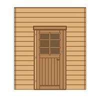 Solid carport zijwand S7730 enkele deur 180x240cm