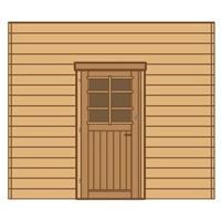 Solid carport voorwand S7736 enkele deur 270x255cm
