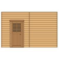 Solid carport voorwand S7741 enkele deur 390x245cm