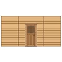 Solid carport voorwand S7747 enkele deur 480x245cm