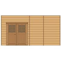 Solid carport voorwand S7746 dubbele deur 480x245cm