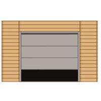 Solid carport voorwand S7743 sectionale garagedeur 390x245cm