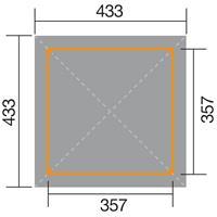 WEKA Tuinoase 651A Gr.1 357x357 cm
