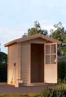 Houten tuinhuis blokhut Cube 2x2mtr