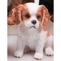 Dierenbeeld Cocker Spaniel hond bruin/wit 15 cm Multi