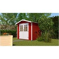 Tuinhuis 218 Gr.1 241x205 cm Zweeds rood