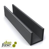 Groot U-profiel tbv betonplaat 4,2 x 3,5 182 cm Tropical Brown