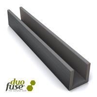 Klein U-profiel 2,7 x 3,5 182 cm Graphite Black