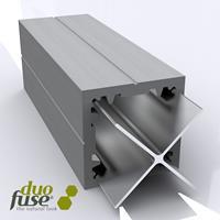Composiet paal met aluminium kern 270cm Graphite Black