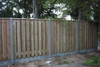 Hout beton schutting 15 planks complete set