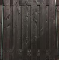 Tuinscherm schutting antraciet zwart 180x180cm
