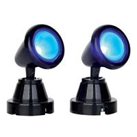 Round Spot Light Blue, set of 2