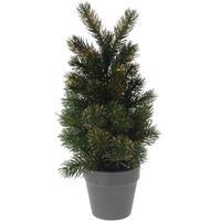 Mini kunst kerstboom 29 cm groen/goud Multi