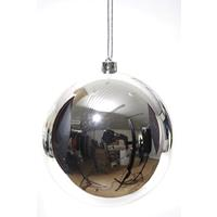 Große Christbaumkugel als Weihnachtskugel silbern 14 cm - KAEMINGK