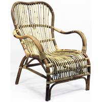 Van der Leeden Bandung Rotan fauteuil - bruin
