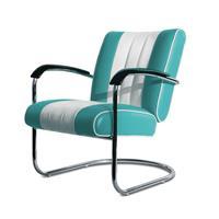 Bel Air Retro Loungestoel LC-01 Turquoise