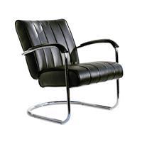 Bel Air Retro Loungestoel LC-01 LTD Zwart