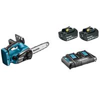 Makita DUC252PF2 36V (2x 18V) Li-Ion accu kettingzaag set (2x 3Ah accu) - 250mm