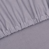 vidaXL Bankhoes stretch polyester jersey grijs
