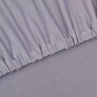 vidaXL Stretch meubelhoes voor fauteuil grijs polyester jersey