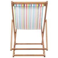 Strandstoel inklapbaar stof meerkleurig