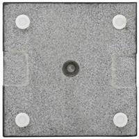 Parasolvoet vierkant 20 kg graniet zwart