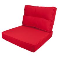 Kopu ® - Prisma Loungekussenset Zit en Rug 60 cm - Red