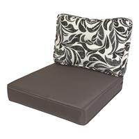 Kopu Retro Flower Grey Loungekussenset Zit en Rug 60 cm