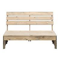 Leen Bakker Palletbank Lucca modulair - greywash - 120x93,5x76,5 cm