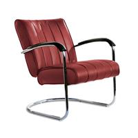 Bel Air Retro Loungestoel LC-01 LTD Ruby