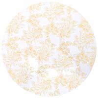 vidaXL 2 st Tafelhoezen stretch 80 cm wit met gouden opdruk