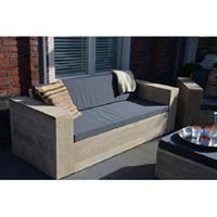"Wood4you "" - Loungebank steigerhout """"Washington 220cm met kussens''"""