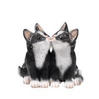 Dierenbeeld katjes/poesjes zwart 20 cm Zwart