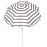 Summertime Parasol 180 Grijs/wit