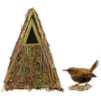 Houten vogelhuisje/nestkastje groene camouflage 24 cm Multi