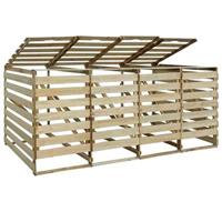 VidaXL Containerberging vierdubbel 240 L FSC geïmpregneerd grenenhout