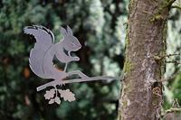 Artbizniz Geluksdier eekhoorn metaal